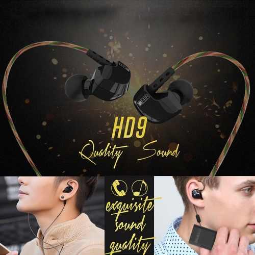 Fone de Ouvido Original KZ HD9 In-Ear HiFi HQ Alta Qualidade