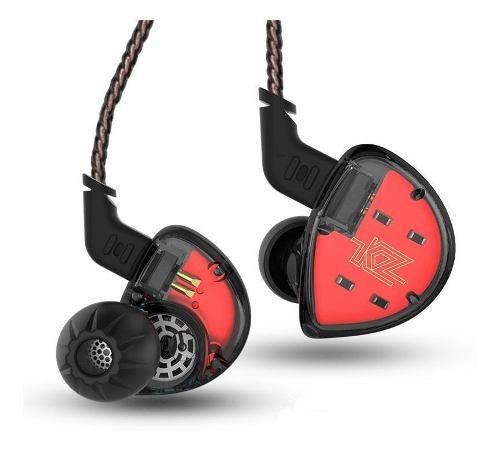 Fone de Ouvido Profissional 5 Drivers KZ ZS10 Original In-Ear Hi-Fi Alta Qualidade Com Cabo Destacável
