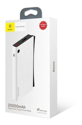 Carregador Portátil Power Bank Original Baseus 20.000mAh Com Carregamento Turbo a 18w