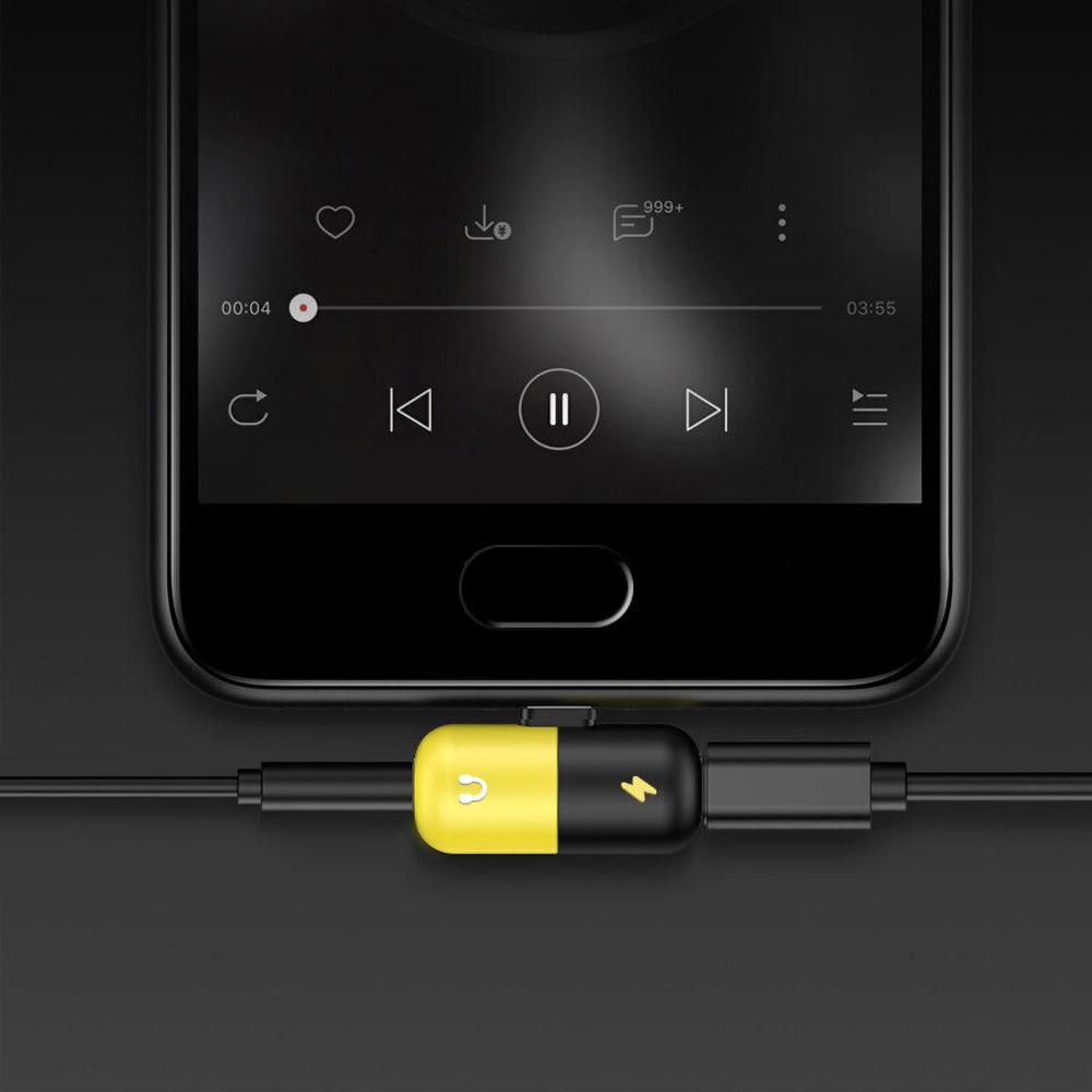 Adaptador Duplo Tipo-C P2 Carregamento e Áudio