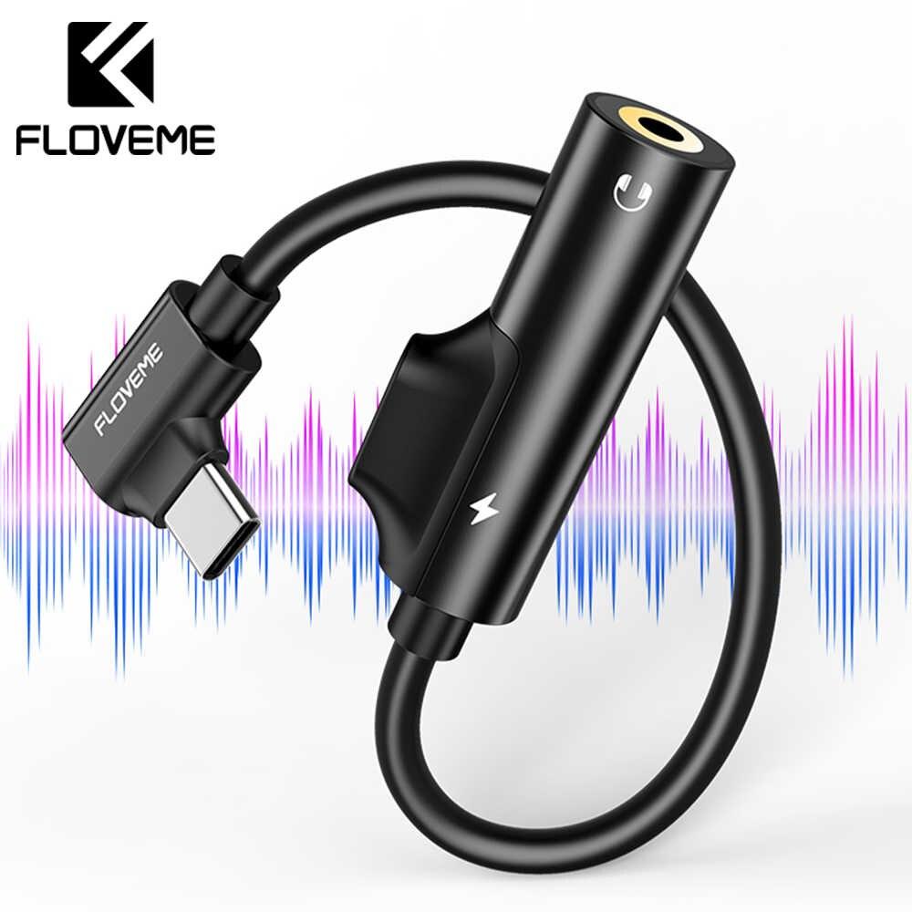 Adaptador Tipo-c Floveme 2 Em 1 Carregador E Fone De Ouvido