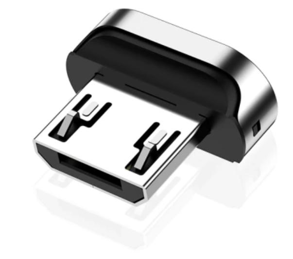 Cabo magnético Twitch 90 graus com 3 plugs: micro usb v-8, tipo c e lightning (Iphone)