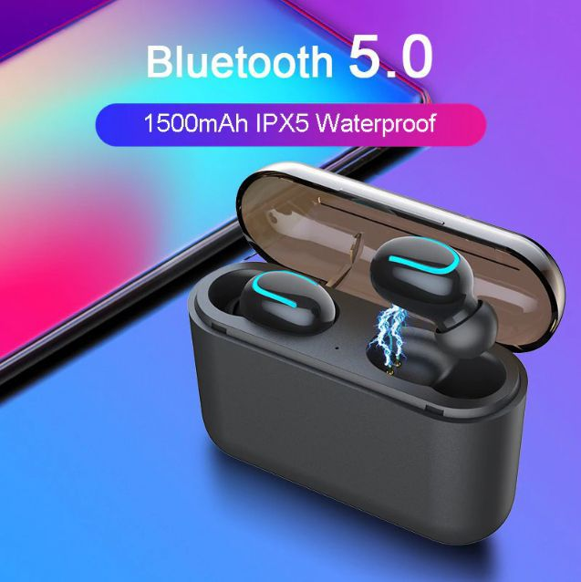 Fone Bluetooth 5.0 TWS Original Syllable Q32 HiFi HQ Com Base Carregadora Power Bank 1500mAh