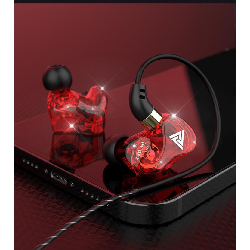 Fone de Ouvido Driver 11.6mm Profissional Original QKZ SK7 In-Ear Hi-Fi Alta Qualidade + Case