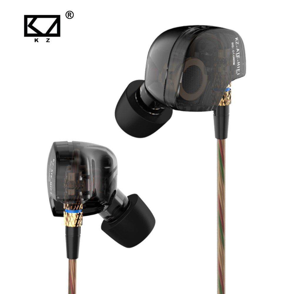 Fone de Ouvido Profissional Original KZ ATE In-Ear HiFi HQ Alta Qualidade para Retorno de Palco ou Celular