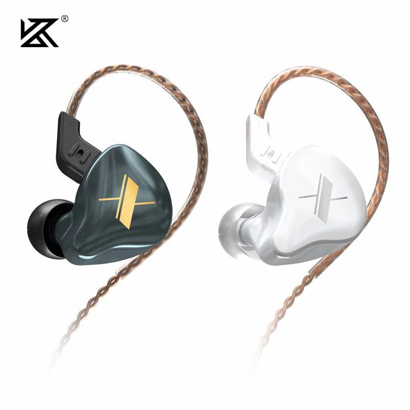 Fone de Ouvido Profissional Original KZ EDX Cabo Destacável In-Ear HiFi HQ Alta Qualidade para Retorno de Palco ou Celular