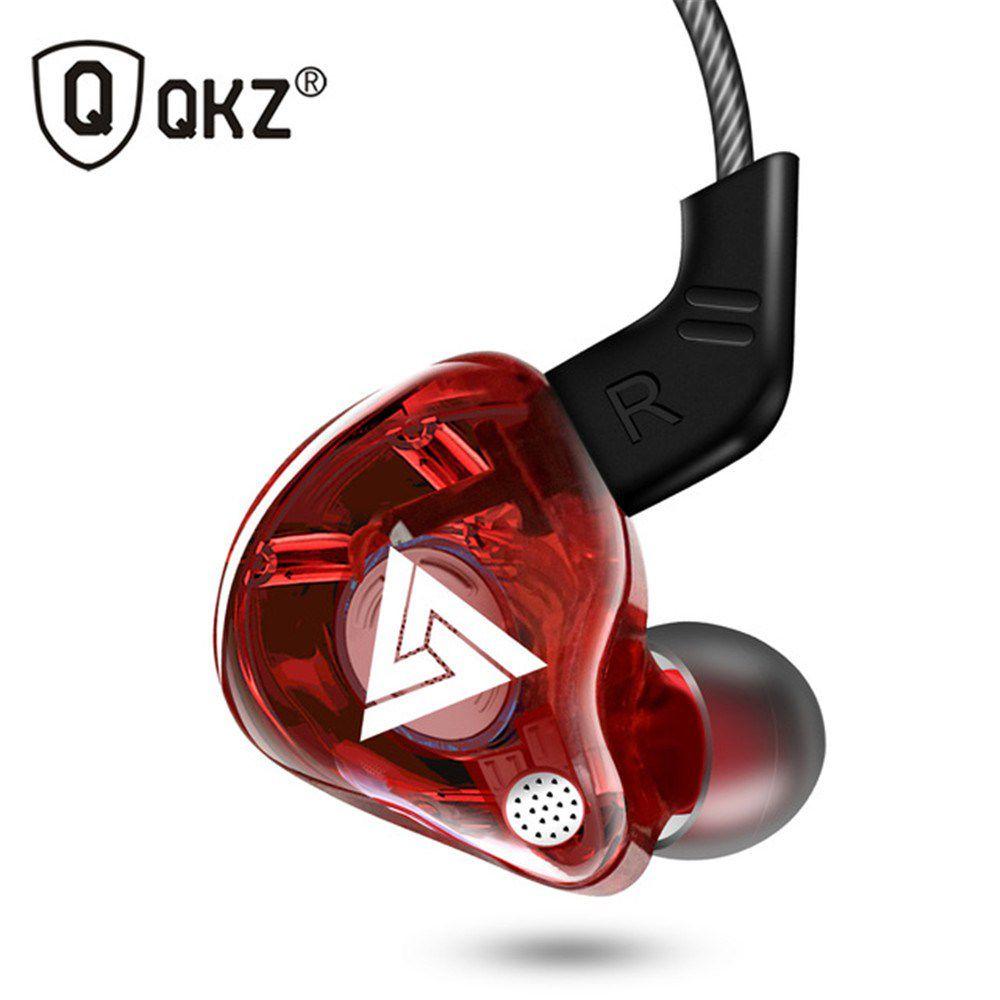 Fone de Ouvido Profissional Original QKZ AK6 In-Ear Hi-Fi Alta Qualidade + Case