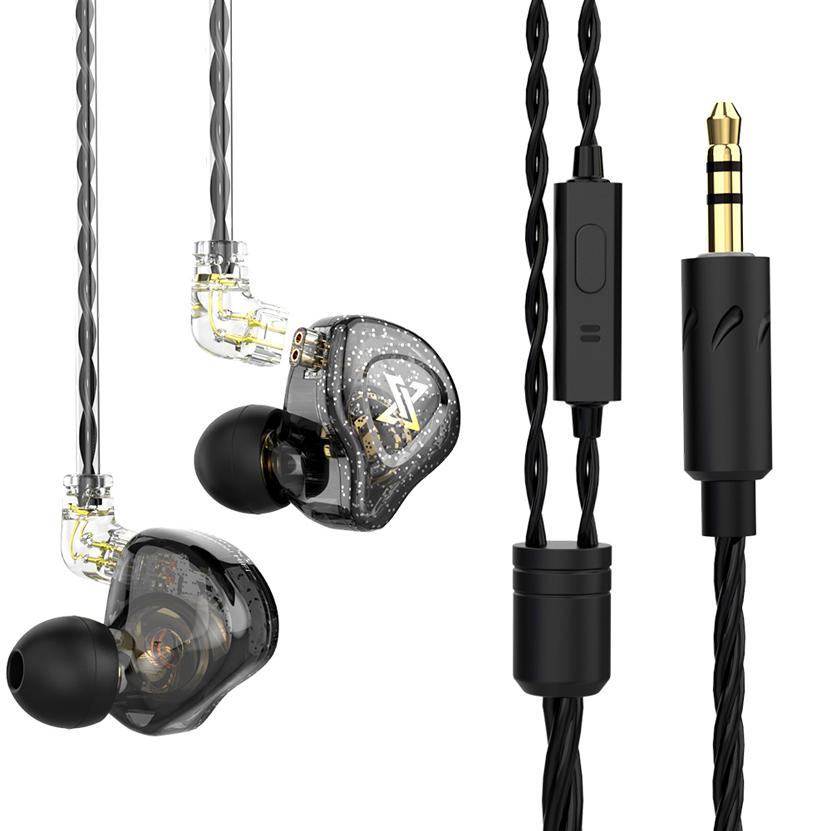Fone de Ouvido Profissional Original QKZ AK6 MAX Com Cabo Destacável In-Ear Hi-Fi Alta Qualidade