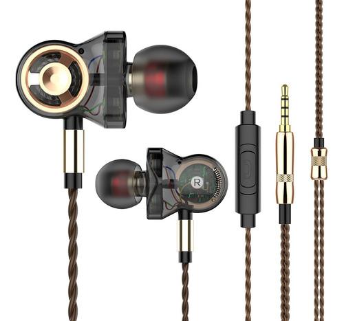 Fone de Ouvido Profissional Original QKZ CK10 3 Drivers In-Ear Hi-Fi Alta Qualidade + Case