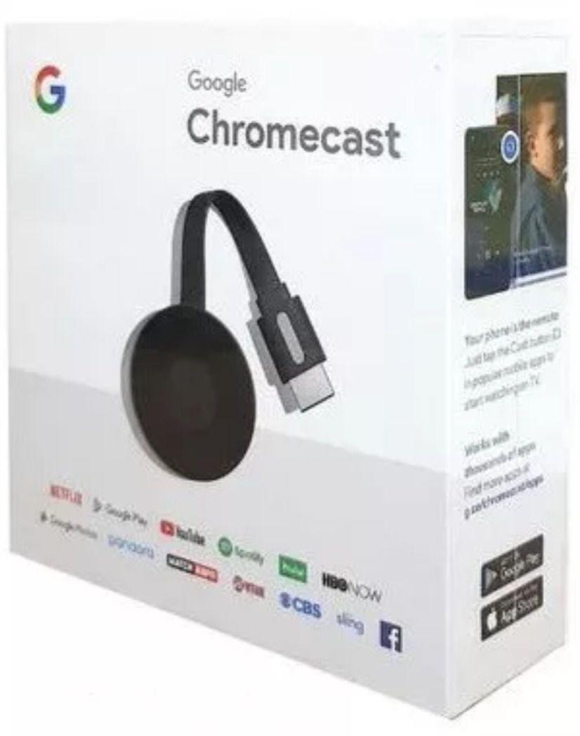 Google Chromecast 3ª Geração - Transforme Sua TV Em Smart TV