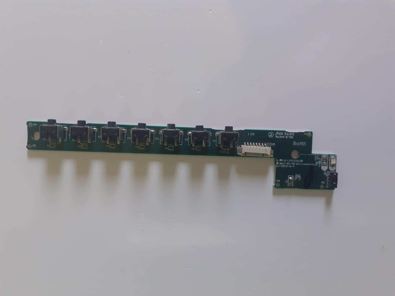 Placa Controle Botões TVPH40R86DSGW p/ TV Philco