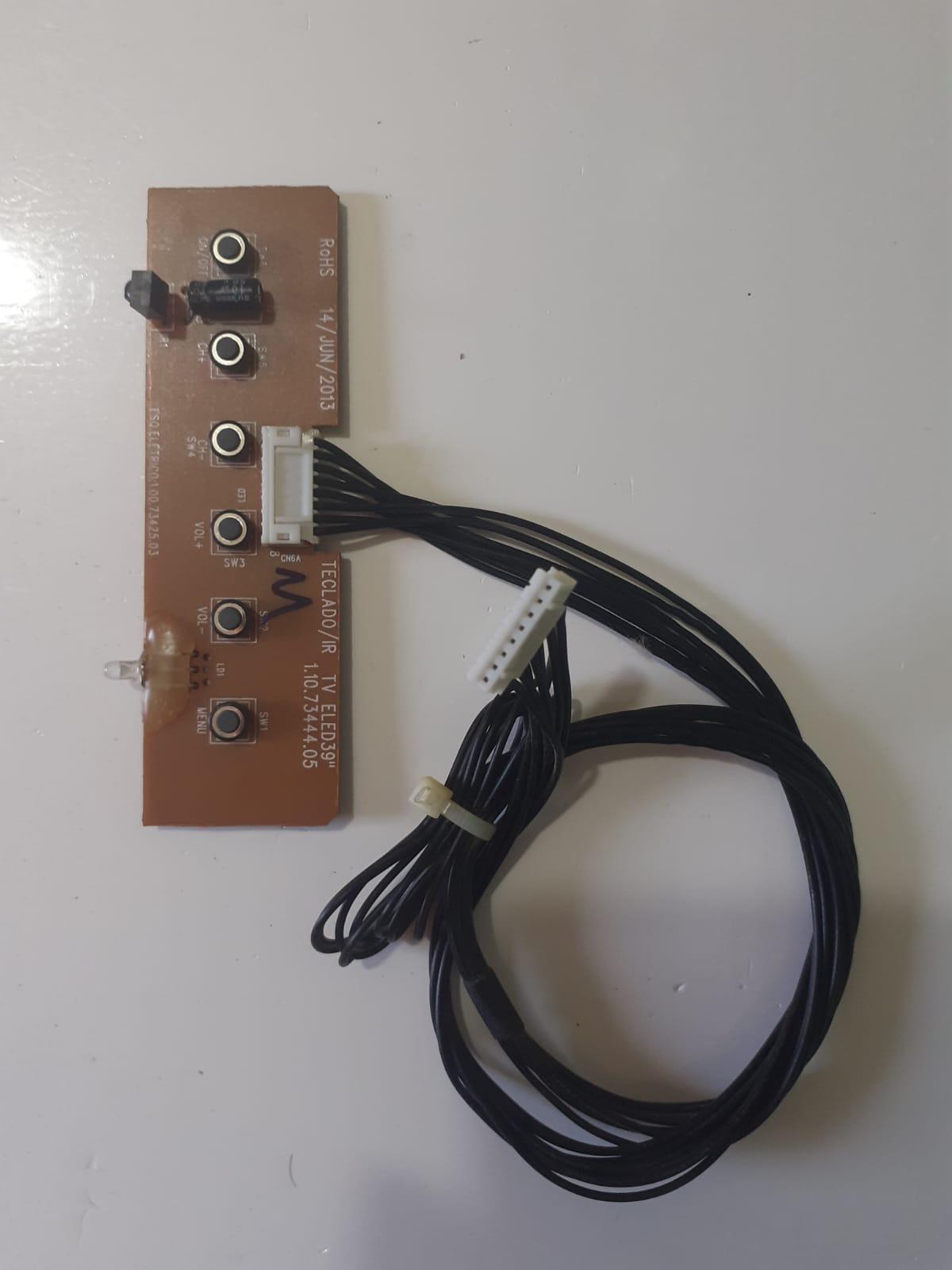 Placa Sensor Controle Remoto e botões p/ TV Led CCE 39AC LN39G