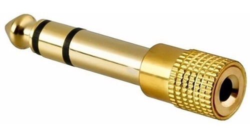 Plug Adaptador Stereo P2 Para P10 Stereo 18k Gold Qualidade Premium