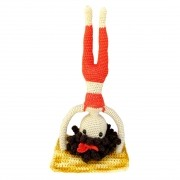 Amigurumi - Crochê - Yogini Sirsasana - Yoga