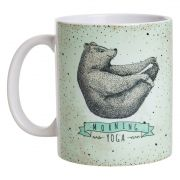 Caneca De Porcelana - Urso Morning Yoga