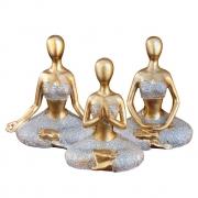 Estatueta de Resina - Yoga - Meditação - Tamanho Pequeno