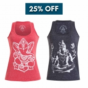 Kit 2 Regatas - Yoga - Ganesha & Shiva - 25% OFF