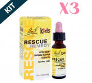 Kit 3x Rescue Kids Gotas - 10ml - Florais De Bach