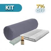 Kit Restaurativo - Bolster + Manta + Almofada para os olhos + Pomander Equilíbrio 30ml