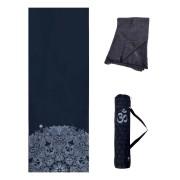 Kit Tapete Aveludado, Bolsa Porta Mat e Toalha Antiderrapante - Om Black