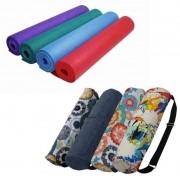 Kit: Tapete de Yoga com Bolsa Porta Mat