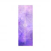 Tapete de Yoga Aveludado com Borracha Natural 183x68cm - Linhas de Postura