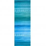 Tapete de Yoga Aveludado Étnico Degradê Azul e Verde