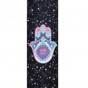 Tapete de Yoga Estampado Aveludado - Hamsa Estelar
