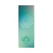 Tapete de Yoga Dobrável para Viagem Aveludado com Borracha Natural 1,5mm - Meditação