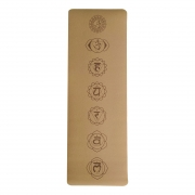 Tapete de Yoga Estampado - Cortiça - Chakras - 5mm 183x61cm