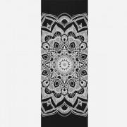 Tapete de Yoga PVC Estampado- Mandala - Preto
