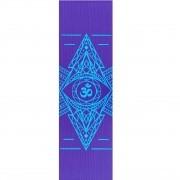 Tapete de Yoga PVC Estampado - Om - Roxo