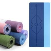 Tapete de Yoga TPE Duas Cores - 6mm - Linha de Posturas
