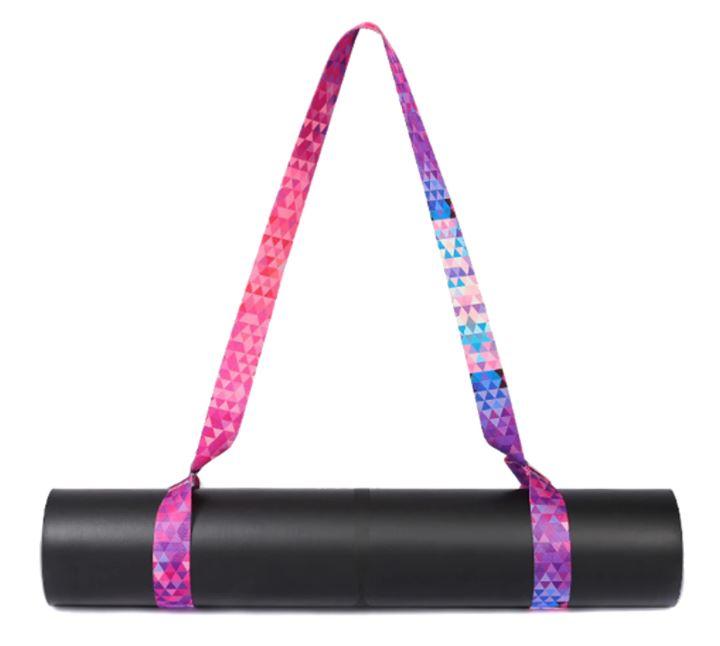 Alça Porta Tapete Estampado - Yoga Mat Strap - Geometria Color