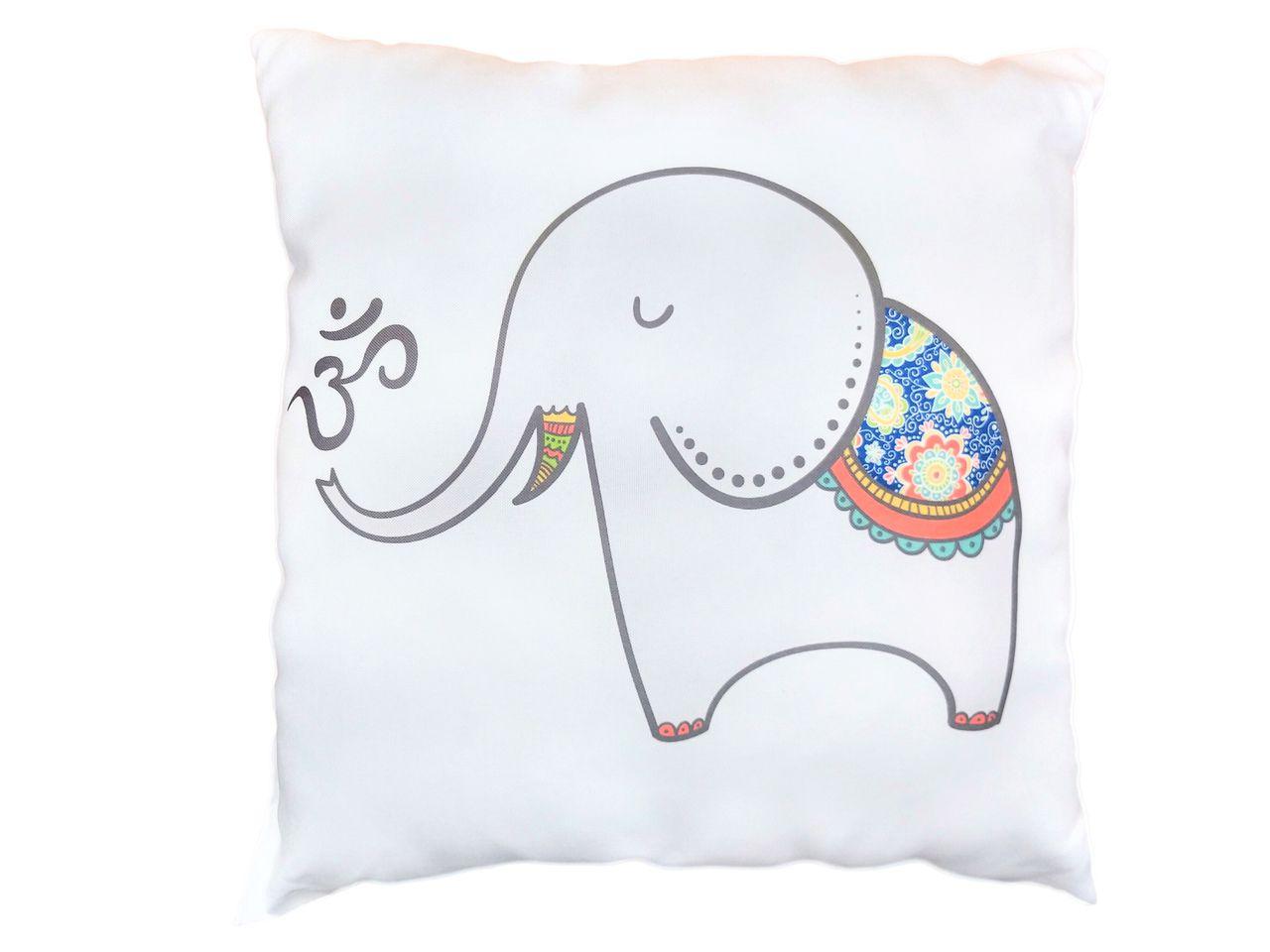 Almofada - Yoga - Elefante - 35 x 35 cm