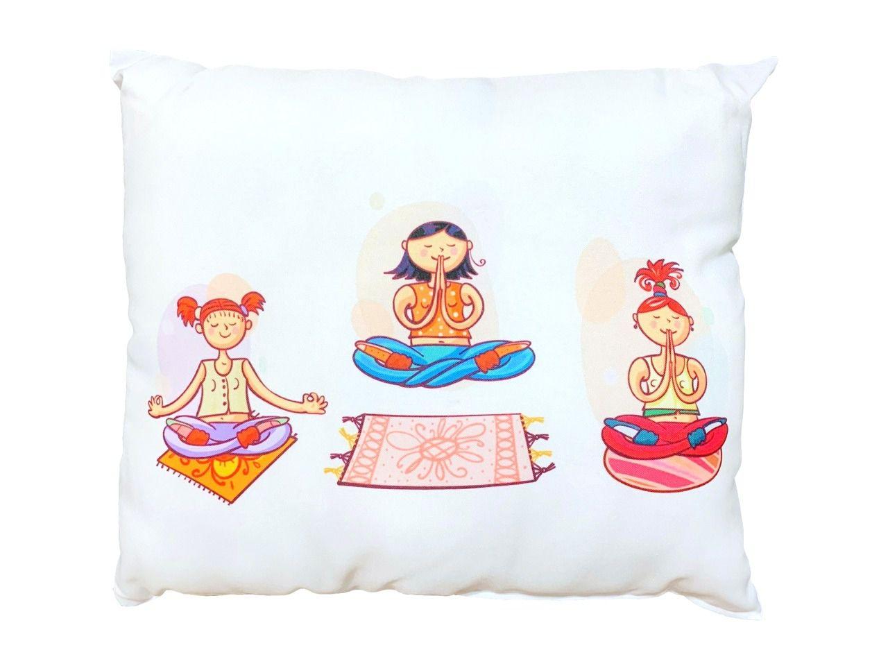 Almofada - Yoga - Três Yoginis - 35 x 42 cm