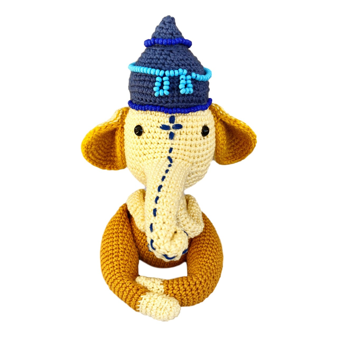 Amigurumi - Crochê - Ganesha (Amarelo) - Yoga