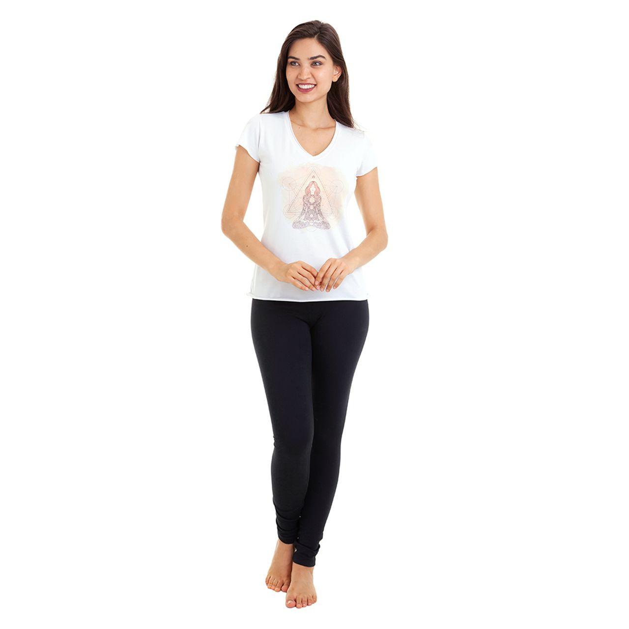 Baby Look - Branca - Mulher em Lótus