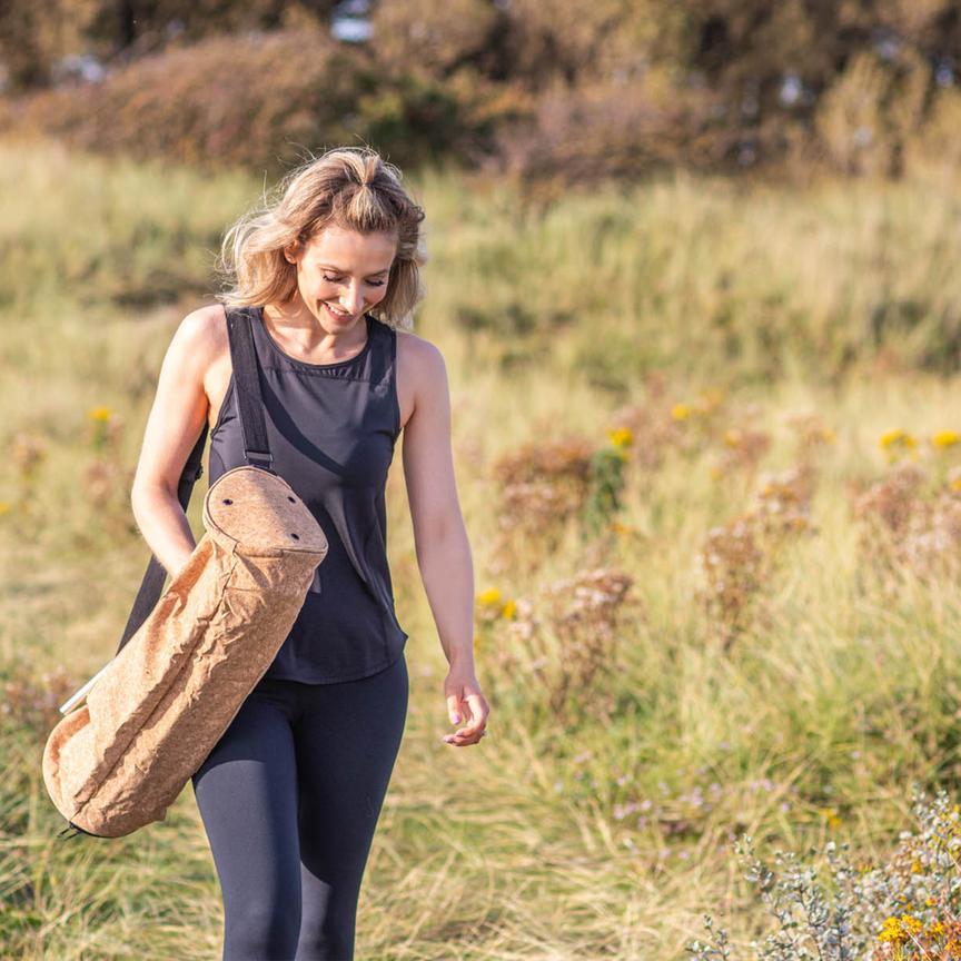 Bolsa Tapete Yoga - Porta Mat - Cortiça Ecológica e Sustentável