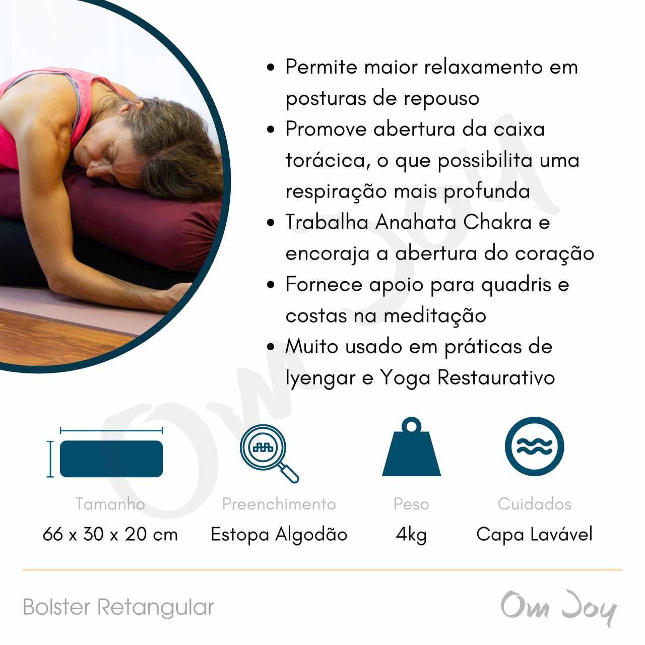 Bolster Retangular -Yoga