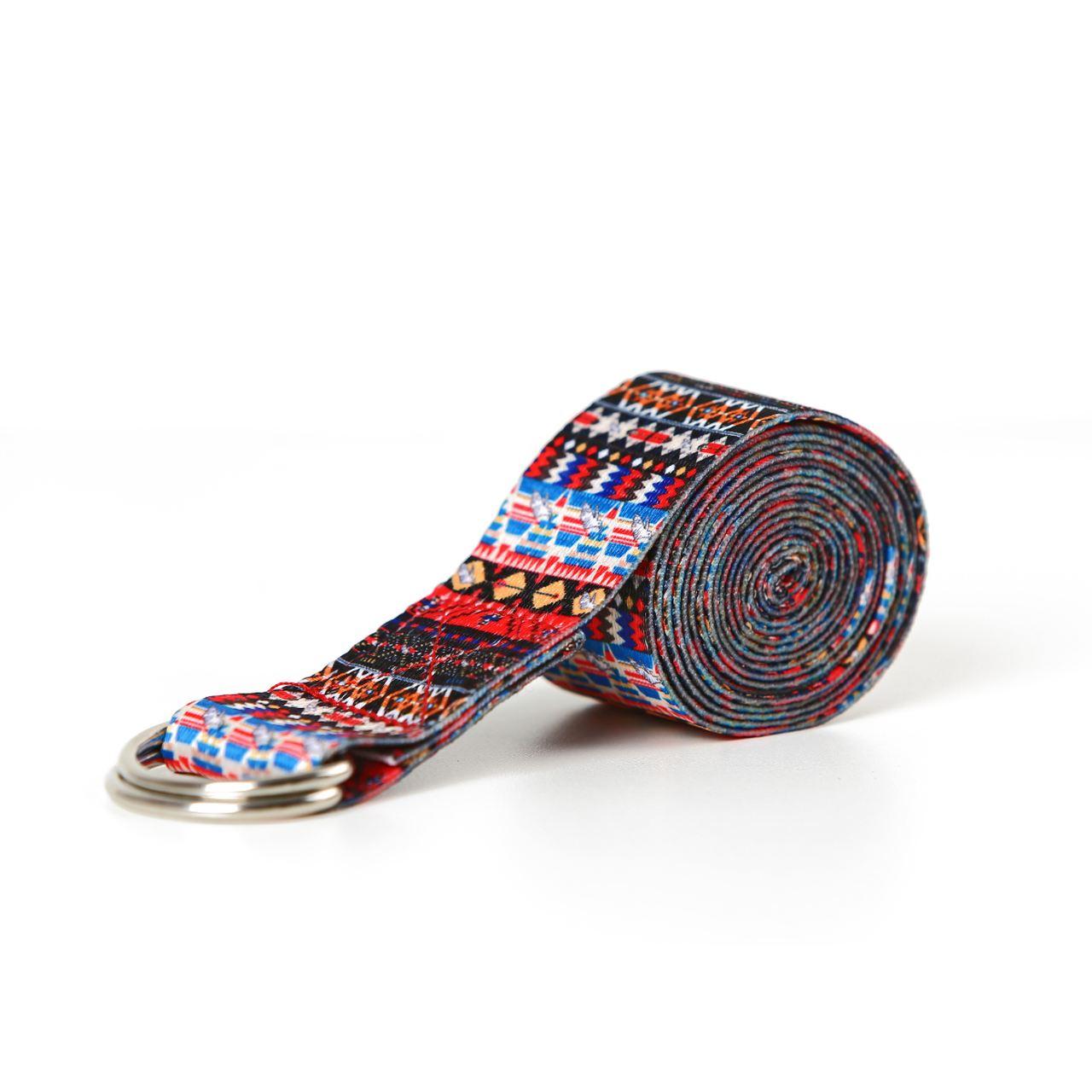 Cinto / Faixa de Alongamento Estampado - Yoga Strap - Inca