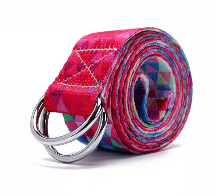 Cinto / Faixa de Alongamento Estampado - Yoga Strap - Geometria Color