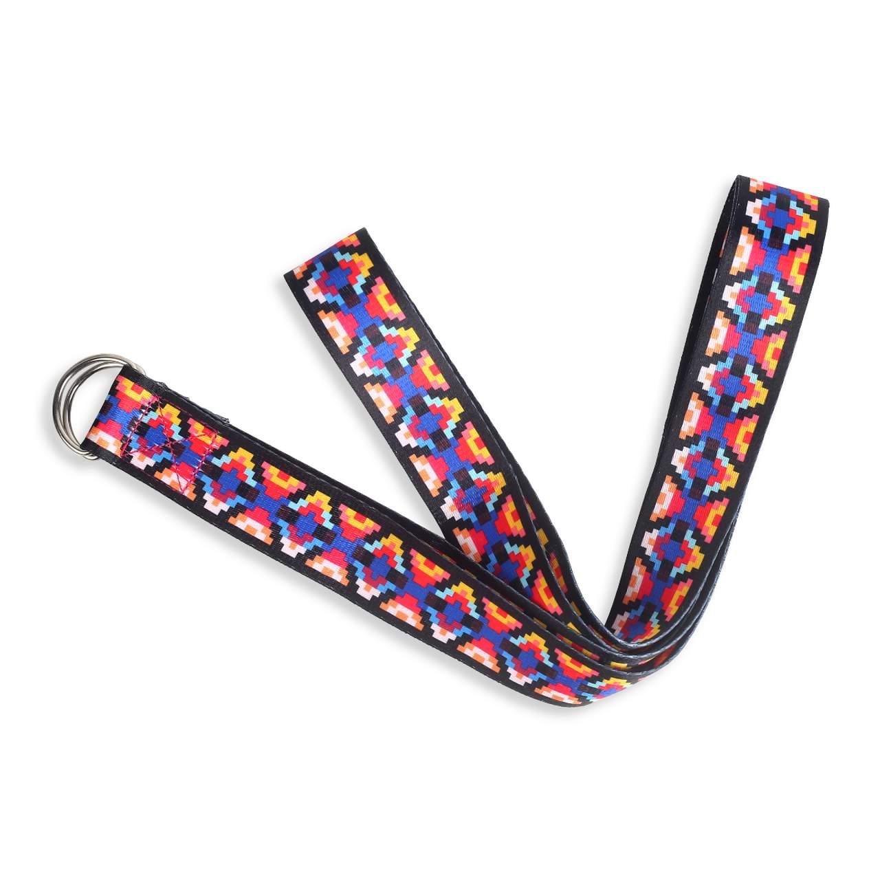 Cinto / Faixa de Alongamento Estampado - Yoga Strap - Mosaico