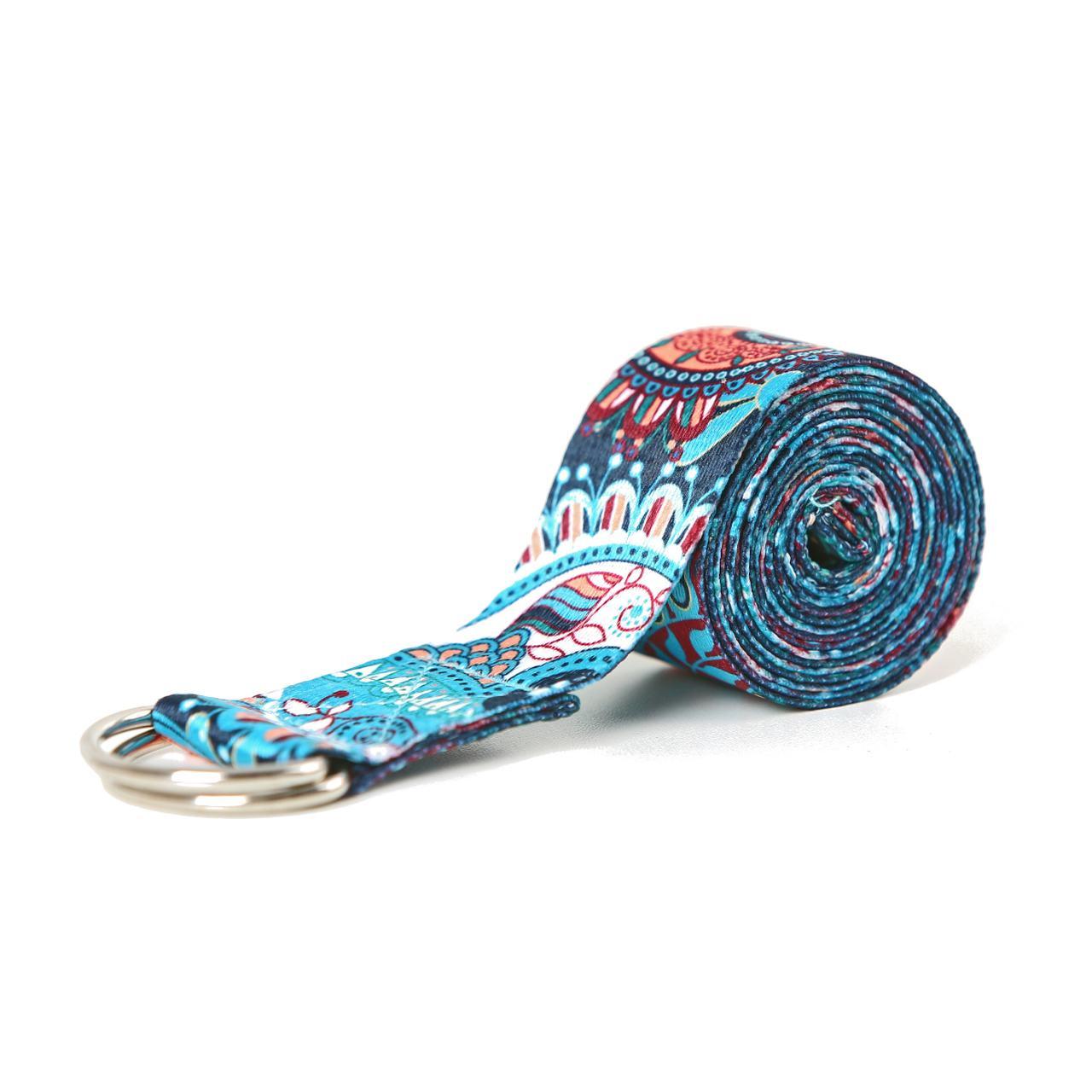 Cinto / Faixa de Alongamento Estampado - Yoga Strap - Thai