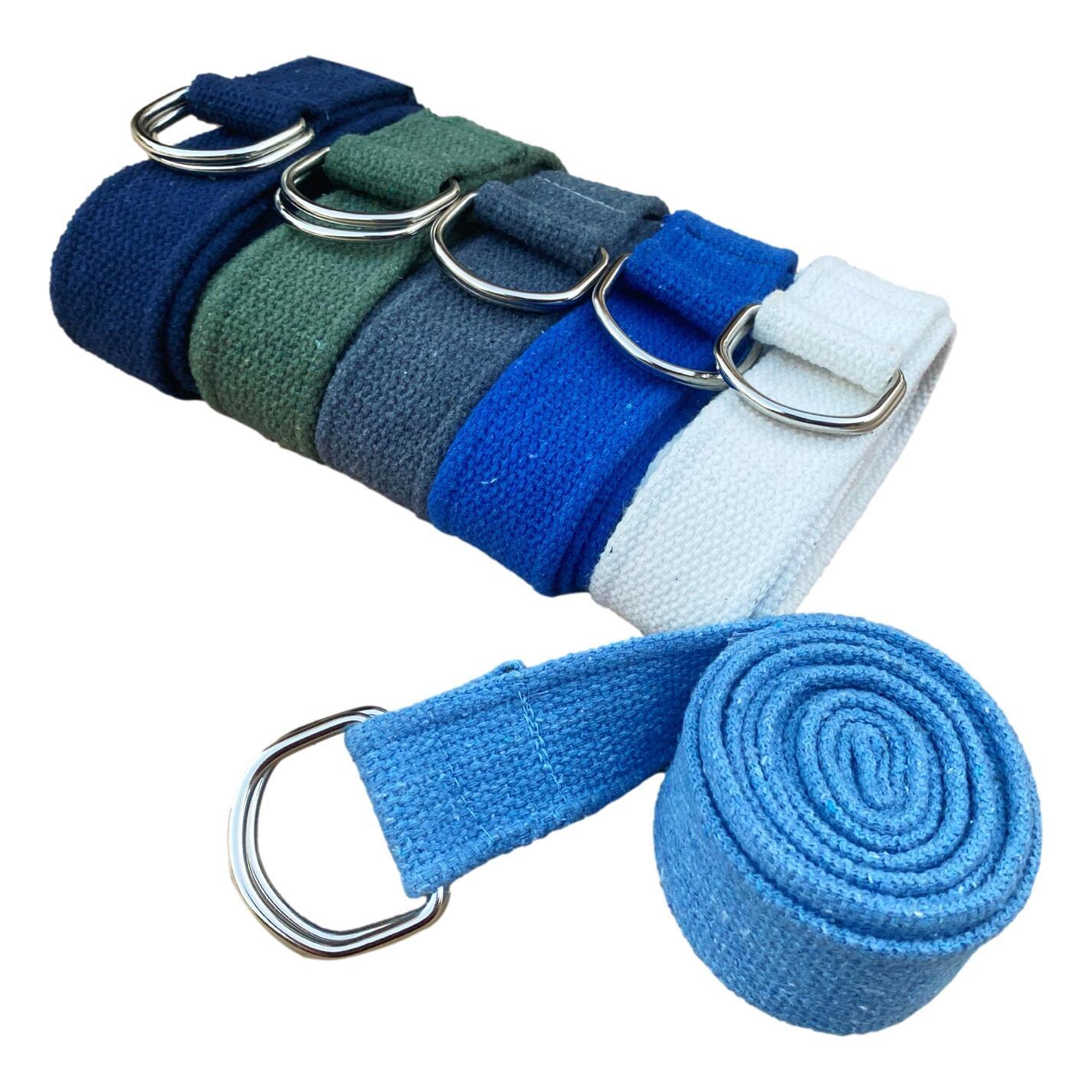 Cinto / Faixa para Alongamento - Yoga Strap - Cor Lisa (200 cm)
