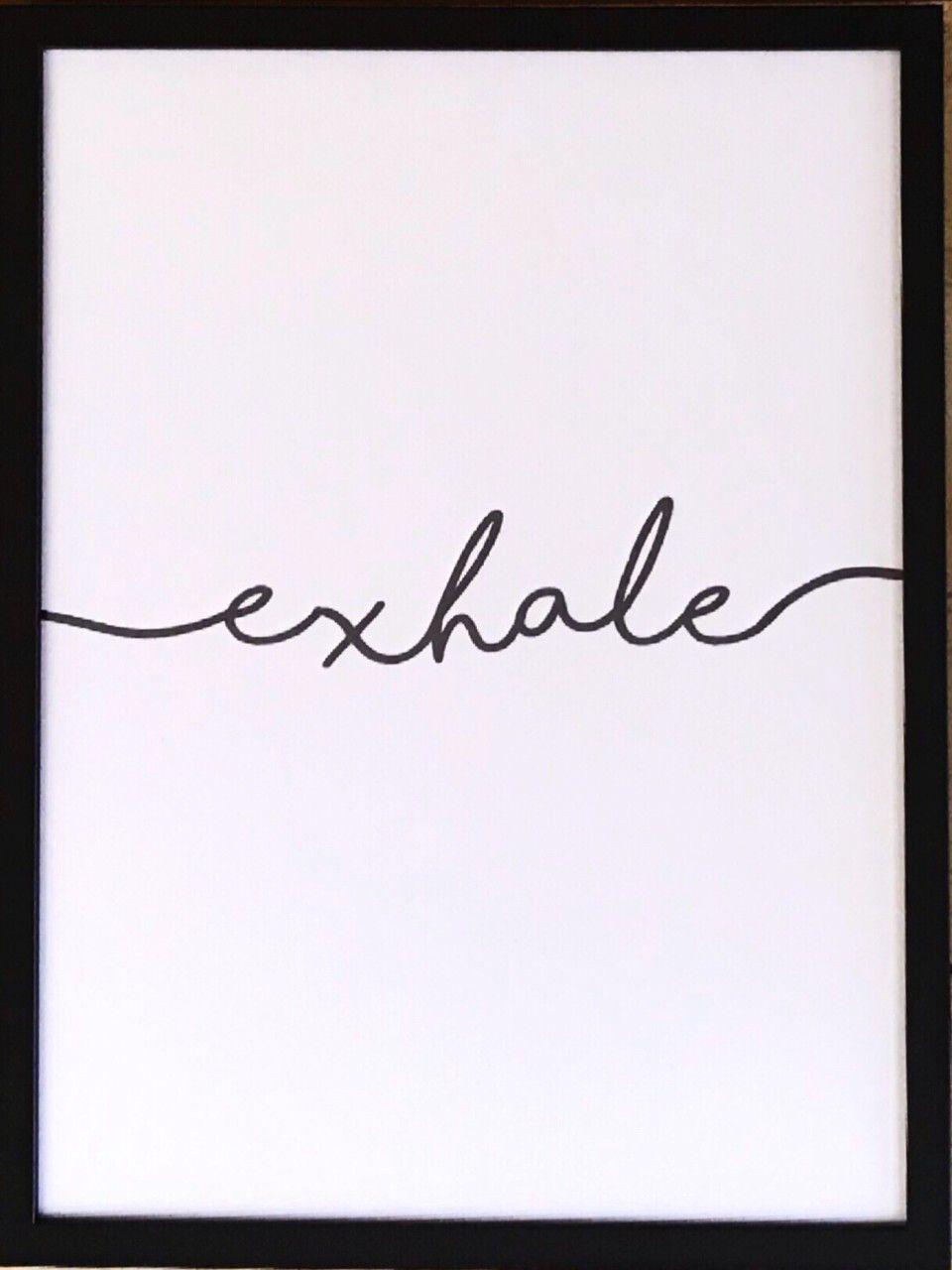 Conjunto de Quadros - Inhale + Exhale - 40x30cm (Cada)