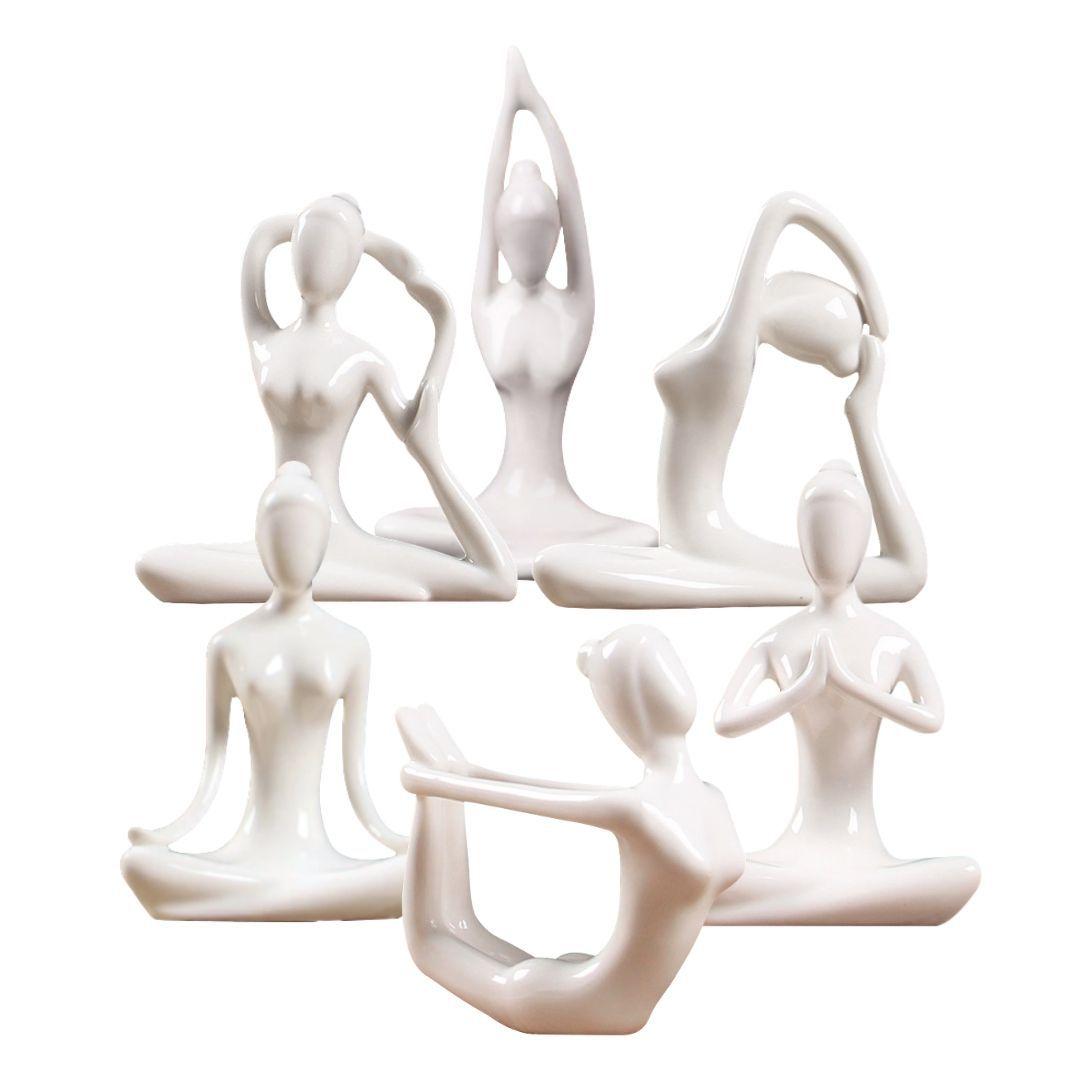 Estatueta de Cerâmica - Posturas de Yoga