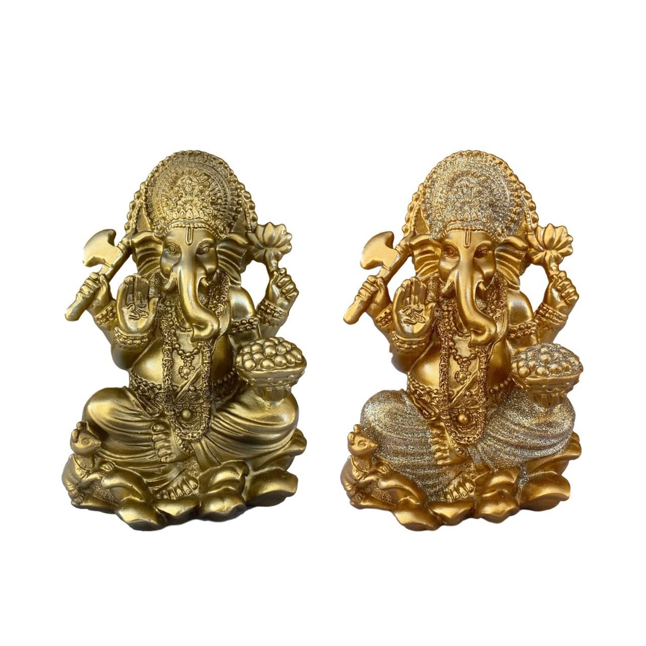 Estatueta de Ganesha - Resina - Tamanho Médio
