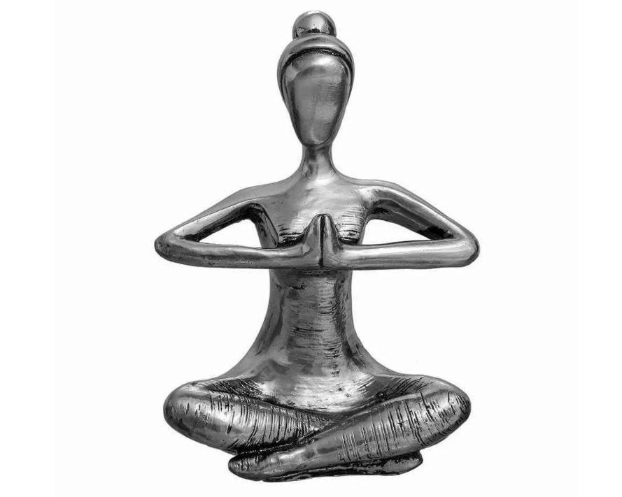 Estatueta de Gesso - Yoga - Namaskar (Mãos em Prece)