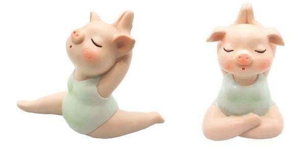 Estatueta Porquinha Yoga